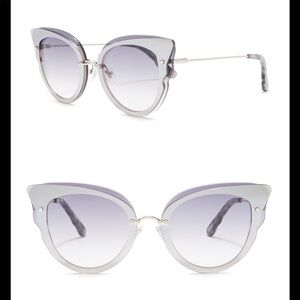 Diff Delilah Silver Purple Sunglasses New
